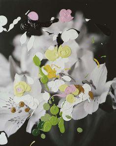 Finish artist Nanna Hänninen's paint-splashed photo works are pretty wonderful. Contemporary Photography, Abstract Photography, Artistic Photography, Contemporary Art, Plant Painting, Textiles, Pretty Pictures, Art Lessons, Design Art
