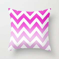 PINK+CHEVRON+FADE+2+Throw+Pillow+by+natalie+sales+-+$20.00