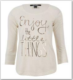 ecru enjoy the little things t-shirt