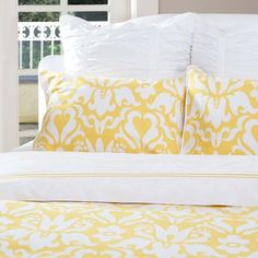 Bedroom inspiration and bedding decor | The Montgomery Yellow | Crane and Canopy