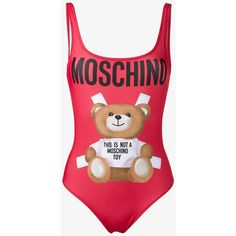 a1b3bc0f86345 Moschino Teddy Bear Swimsuit ( 93) ❤ liked on Polyvore featuring swimwear
