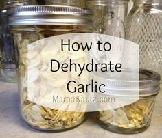 How to dehydrate garlic yourself