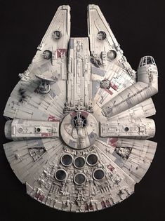 My Bandai Perfect Grade Millennium Falcon -finished! Click this image to show the full-size version. Images Star Wars, Star Wars Pictures, Star Wars Fan Art, Lego Star Wars, Star Trek, Millennium Falcon Model, Nave Star Wars, Cuadros Star Wars, Perfect Grade