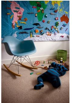 Wall hanging with velcro....both for kids at home or in the classroom