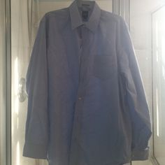 Men Gap blue button shirt size L 16-16.5 tall Tiny stain you can't picture #4 GAP Shirts Casual Button Down Shirts