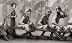 The Sluggers Series by Loren Long & Phil Bildner - The year is 1899, and the Travelin' Nine are crisscrossing the good ol' U.S. of A., raising money to pay off the Payne family's big-league debt!