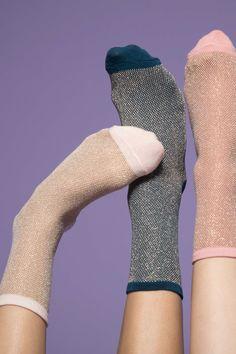 Cute glitter socks in 3 different colors
