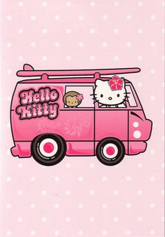 Hello Kitty Camper Van card by Jay Tilston, via Flickr