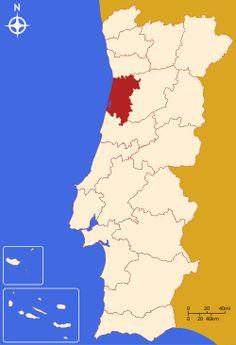 Localização do Distrito de Aveiro em Portugal