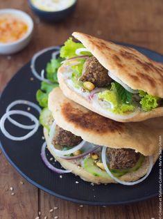 Recette sans gluten bio : Pain pita et falafels sans gluten