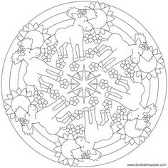 Moose mandala to color