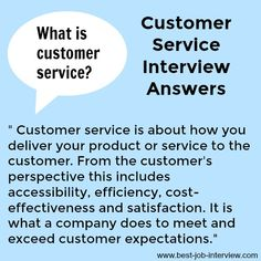 What is customer service? Find a definition of customer service. What is good customer service? Discover the meaning of customer service. Job Interview Answers, Job Interview Preparation, Job Interviews, Interview Skills, Resume Skills, Job Resume, Resume Tips, Customer Service Training, Customer Service Jobs