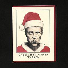 CHRISTOPHER WALKEN CHRISTMAS -  Christopher Walken Card - Funny Christmas Card - Funny Holiday Card - Funny Hanukkah Card