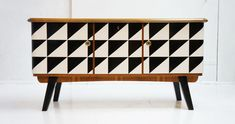 Retro Furniture, Furniture Redo, Upcycled Furniture, Painted Furniture, Furniture Design, Painted Wardrobe, Liberty House, Pattern Art, Mid-century Modern