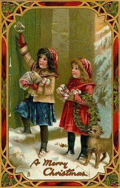 sept cartes vintage pour Noël...