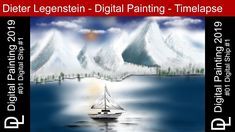 """Dieter Legenstein – Digital Painting 2019 / Picture #01 """"Digital Ship #1"""" Photoshop, Painting & Drawing, Ship, Instagram, Drawings, Youtube, Nature, Pictures, Travel"""
