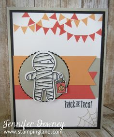 Jennifer Downey & Stampin' Up! www.stampinglane.com Cookie Cutter Halloween, Home Sweet Home, Spooky Fun, Holidays, Card, Create with Connie and Mary Design Team, Color Challenge