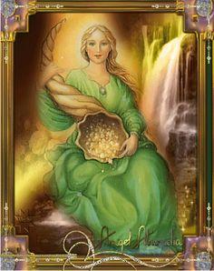 Tráenos Abundia toda tu abundancia. Tráenos caudales de tus riquezas serenidad para tenerlas y amor divino para obtenerlas. Tráenos la fe d...