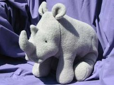 Rhino Soft Toy Pattern PDF INSTANT DOWNLOAD by FunkyFriendsFactory