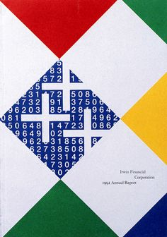 Paul Rand annual report #design for the Irwin Financial Corporation 1992.