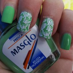 NAIL ART FRESCA Colaboración Masglo #nails #notd #nailart #girl #blogger #model #potd #picoftheday #ootd #oufit #beauty