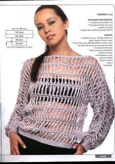 d1e4a2f10d vestido feito em croche de grampo lindo blusas em croche de grampo é só  mudar a