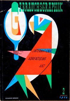 "Magazine cover: ""Gebrauchsgraphik – International Advertising Art"", February 1952  Artist: Unknown"