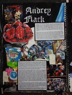 Audrey Flack artist study - A Level Art Sketchbook - Water Audrey Flack artist study - A Level Art Sketchbook - A Level Sketchbook, Textiles Sketchbook, Gcse Art Sketchbook, Sketchbooks, Kunstjournal Inspiration, Sketchbook Inspiration, Sketchbook Ideas, Art Journal Pages, Art Pages