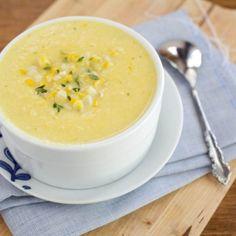 Thaise maïssoep met pittige groentechips|