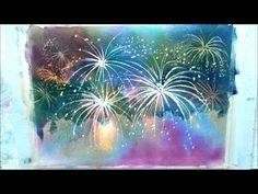 How to paint fireworks part 2 - YouTube