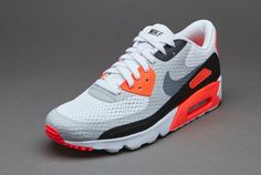 Nike Air Max 90 Ultra Essential Mens Shoes White Cool Grey Infrared Black