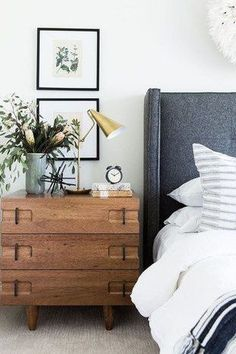 Ahead, we've rounded up seven of the best midcentury modern bedroom lighting ideas to infuse the perfect touch of retro charm into your sleeping quarters. #hunkerhome #bedroomideas #bedroominspo #lightingideas #midcenturymodernlighting #midcenturymodernbedroom Small Bedroom Furniture, Bedroom Dressers, Design Furniture, Dresser As Nightstand, Bedroom Decor, Bedroom Ideas, Furniture Ideas, Cozy Bedroom, Antique Furniture