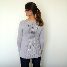 Marian is a classic cardigan with a feminine flared back.