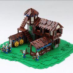Les bâtiments d'Age of Empires II recréés en LEGO