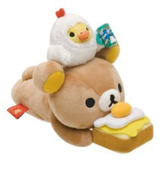 Rilakkuma bear bread cheese / omelette / plush toy-in Toys & Hobbies on Aliexpress.com