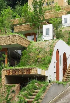 This Japanese eco apartment complex is literally one with the earth #japanesearchitecture