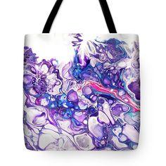 Fluid Acrylic Purple Fantasy Tote Bag for Sale by Jenny Rainbow Thing 1, Fluid Acrylics, Poplin Fabric, Bag Sale, Tote Bags, Totes, Rainbow, Fantasy, Gift Ideas