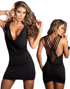 Woah! The little black party dress... open back, too. Sexy... Less than $30!