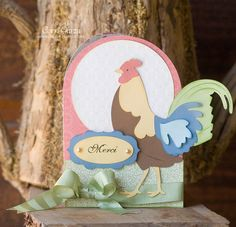 Corri's Rooster Card is from the MAISON De MADELINE SVG KIT.  The colors are beautiful.