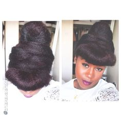 """Pretty Protectectivestyle by @chiakavalentina """"Croissant hair updo #Hair2mesmerize #naturalhair #healthyhair #naturalhairjourney #naturalhairstyles #blackhairstyles #transitioning"""
