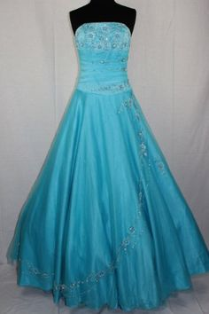 C52 Aqua Corset Embroidery Wedding Bridesmaid « Dress Adds Everyday