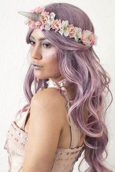 Unicorn costume headpiece - Einhorn Kostüm Kopfschmuck und Make-Up Manousche