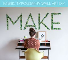 Fabric Typography Wall Art