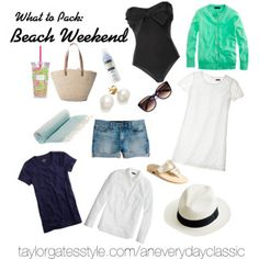 What to Pack For: A Beach Weekend:: An Everyday Classic