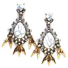 Marble Teardrop Statement Earrings