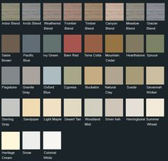 Vinyl Siding Color Chart   Click here to view Monogram 46 siding colors