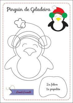 Pinguim de natal molde