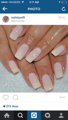 Shimmery gel nails