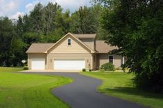 Rochester Driveway Repair & Maintenance in Rochester NY Driveway Repair, Asphalt Driveway, Driveway Landscaping, Cleaning, Mansions, Landscape, House Styles, Modern, Home