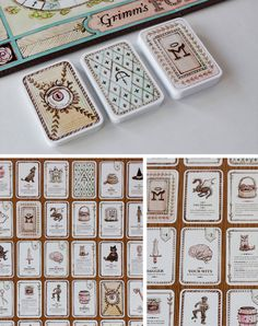 Game design 58265388907949261 - Student: Grimm's Forest – The Dieline – Source by machalus Game Card Design, Bg Design, Board Game Design, Graphic Design, Grimm, Dungeons And Dragons, Games For Kids, Games To Play, Pen & Paper